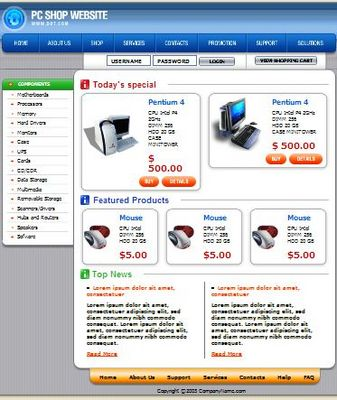 Product picture PC Shop HTML  Web Template,